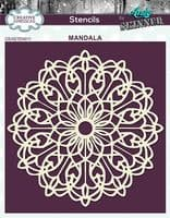 Creative Expressions 6x6 Stencil by Andy Skinner - Mandala